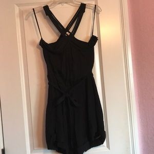 Foreign Exchange Romper with strappy detail